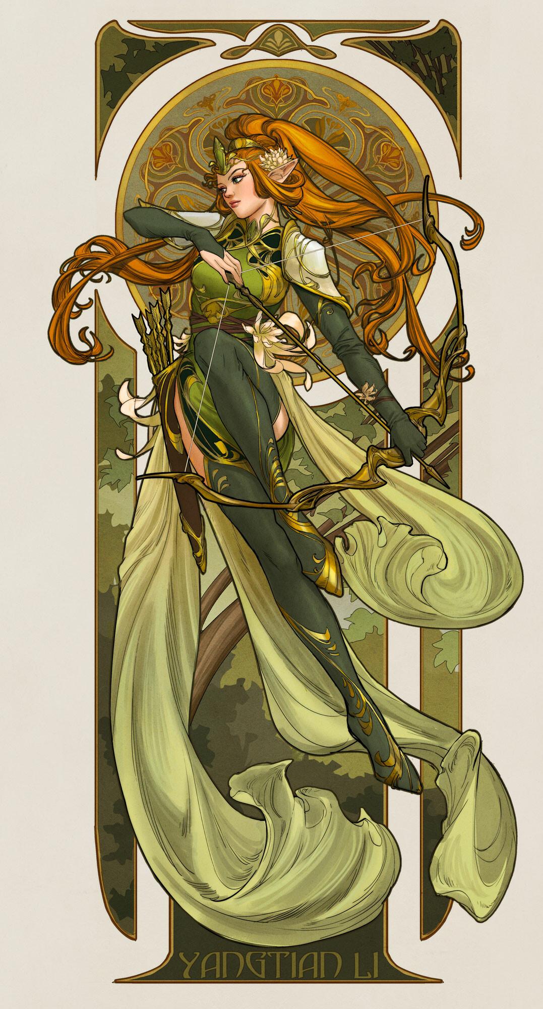 GirlsclubAsia-Artist-yangtian-li-elf-archer-4-web